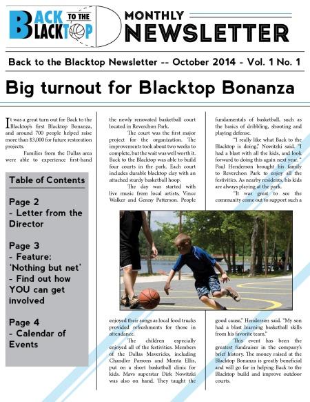 Newsletter (front)